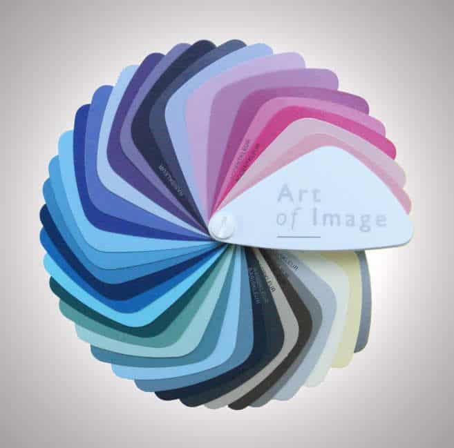 Kleurenwaaier Art of Image voor kleurenanalyse