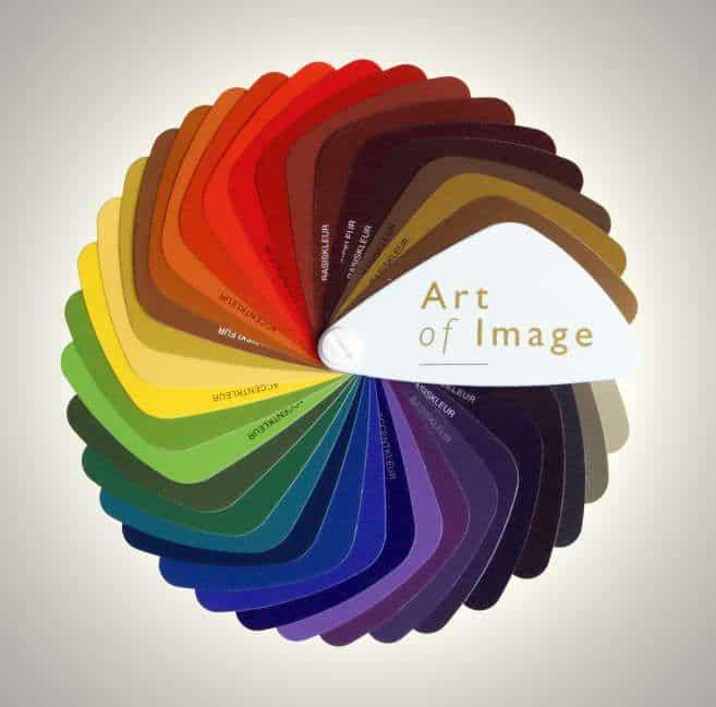 Kleurenwaaier van Art of Image bij opleiding kleurenanalyse