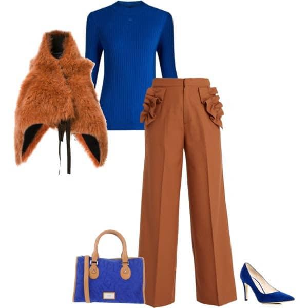 camel is ook bruin en een prachtige kleurcombinatie met blauw