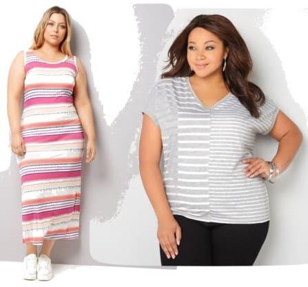 horizontale en verticale strepen in kleding